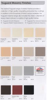 Leyland Emulsion Colour Chart Avenue Decorators Colours