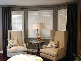 how to hang curtains in a bay window elegant hanging curtains on a bay window mega