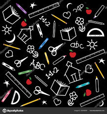 School Chalkboard Background Back To School Chalkboard Background Stock Vector Casejustin