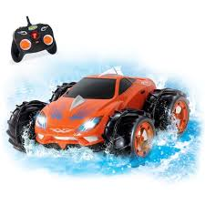 KidiRace Amphibious RC Remote Control Car Orange - 360 Degree Spin Aqua Stunt Kidirace