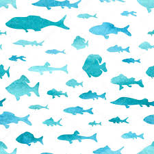 Fish Pattern Fascinating Seamless Pattern Of Watercolor Fish Stock Vector © AlexVector
