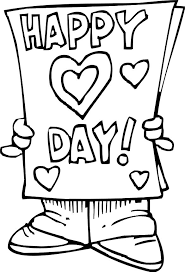 Happy Valentines Day Coloring Page Card Coloring Pages Pinterest