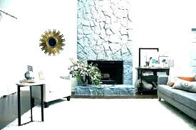 painting rock fireplaces photo stone fireplace white ideas river decorating firep