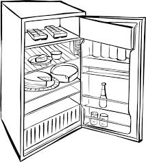 refrigerator clipart black and white.  Black Fridge The Gallery For Refrigerator Clipart Coloring Page Freeuse On Clipart Black And White I