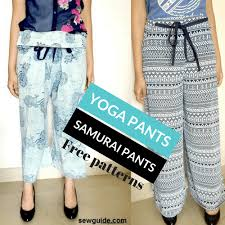Make Pants 2 Ways To Make Wrap Pants Fishermans Pants Yoga Pants