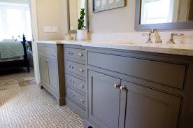 gray bathroom with white cabinets. blue bathroom cabinets transitional mark williams gray with white a