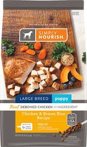 Simply Nourish Large Breed Puppy Food Feeding Chart Simply Nourish Chicken Brown Rice Recipe Large Breed Puppy Dry Dog Food 30 Lb Bag