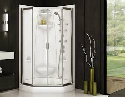 freestyle 37 1 piece neo angle shape shower with intuition door maax