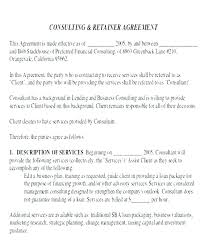 retainer consulting agreement monthly retainer agreement template