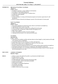 Resume How To Write Waitress Sample With Only Experience A