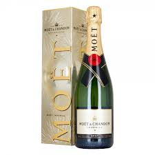 moet chandon imperial brut chagne 75cl silver gift box drinksupermarket