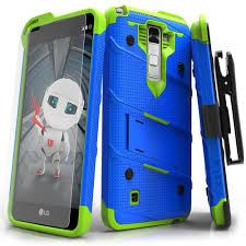 lg stylo 2 cases. zizo bolt lg stylo 2 v / g stylus case - blue/green lg cases