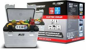 <b>Холодильник</b> автомобильный <b>AVS CC</b>-<b>19WBC</b> (19л 12В/24В/220В)