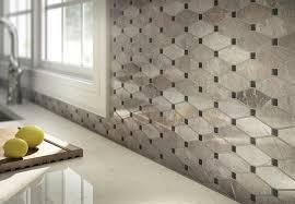 mosiac diamond tile backsplash