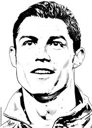 Cristiano Ronaldo Coloring Pages Printable Coloring Page For Kids