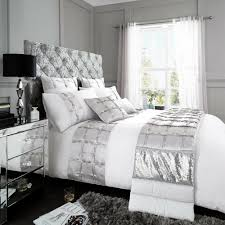 andriana luxury duvet cover set designer bedding set white