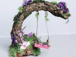 charming fairy swing fairy garden miniature garden garden decor concept of diy fairy garden furniture