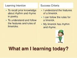 Examples Of Limericks For Students Rules Of A Limerick Limerick