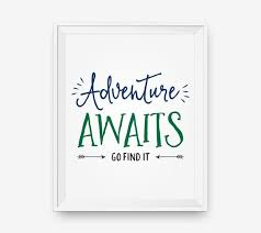 Quotes For Children Stunning Adventure Awaits Kids Room Art Nursery Quotes Children Etsy