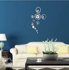 67 creative and simple original 3d acrylic mirror wall sticker wall clock