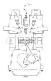 four stroke engine images stock pictures royalty four four stroke engine a four stroke petrol engine on its ignition stroke over white
