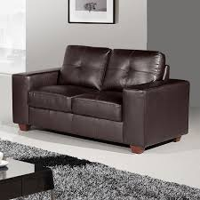 dark brown leather couches. STRADA 2 Seater Leather Sofa In Dark Brown Couches
