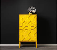 furniture motifs. Extraordinary Yellow Color Modern Cabinet Design Idea With Unique Door Motifs Furniture