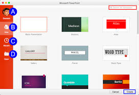 Powerpoint Presentation Gallery Presentation Gallery In Powerpoint 2016 For Mac