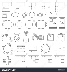Beautiful Floor Plan Furniture Symbols Used In Architecture Plans Icons Set With Models Design
