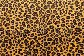 Tiger Pattern Simple Closeup Artificial Tiger Skin Pattern Background Stock Photo