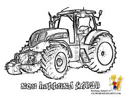 Dessin A Colorier Tracteur New Holland L