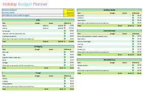 Budget Planning Template Excel Holiday Budget Planner Template Basic Format
