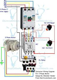 contactor wiring guide for 3 phase motor circuit breaker contactor wiring diagram for 3 phase motor