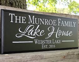 Personalized Decorative Signs Lake homelake home signfamily lake homeriver 2
