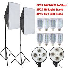 2018 lamps e27 led bulbs photography lighting kit photo equipment softbox lightbox light stand for photo studio diffuser from sdin 235 0 dhgate com