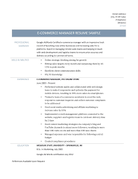 e commerce manager resume template and job description ecommerce resume template job description