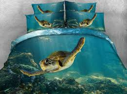 jf 079 hd digital print sheets cal king 3d sea turtle quilt cover set twin full size bed set queen bedding sets tortoise best duvet cover full bedding from