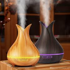 2019 400ml wooden aroma diffuser household office desktop air humidifier colorful night light aromatherapy essential oil diffuser eu uk us plug from