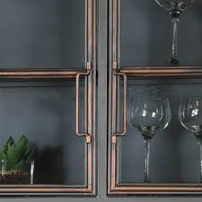 large rustic industrial metal wall cabinet