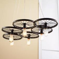 whimsical lighting fixtures. Vintage Spoke Wire Wheel Chandelier Whimsical Lighting Fixtures I