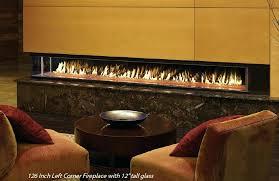 linear gas fireplace insert montigo modern linear gas fireplace insert