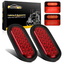 6 Oval White Led Lights Partsam 2x Oval Red Stop Turn Tail Light Rubber Flush Mount