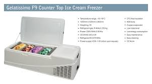 gelatissimo counter top ice cream freezer