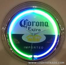 15 inch neon wall clock bar clock