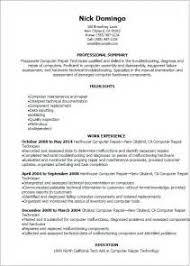 computer repair technician resume workbloom sample - Sample Resume For Computer  Technician