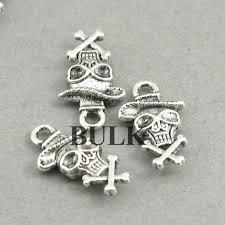 BULK 40 <b>Skull</b> Charms, Wholesale <b>Halloween Pirate Skull</b> pendant ...