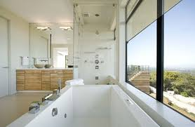 view gallery bathroom modular system progetto. Bathrooms: Modern Bathroom With A Rocky Sea View Gallery Modular System Progetto