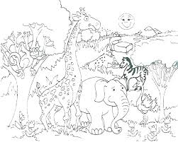 Coloring Book Pages Jungle Animals Alluring Animal Info For Toddlers