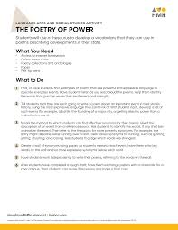 Sample summary & critique papers these examples are reproduced from writing in biology. Https S3 Amazonaws Com Prod Hmhco Vmg Craftcms Public The Poetry Of Power Pdf