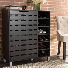 Inroom Designs Coat Hanger And Shoe Rack Shoe Rack Shoe Storage Unit With Coat Rack In White Dark Pine Noa 41